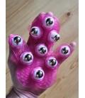 Masážní rukavice (růžová)
