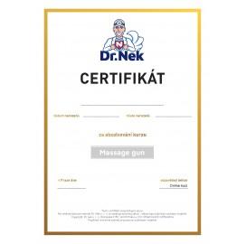 Video kurz masážní pistole s certifikátem od Dr. Nek